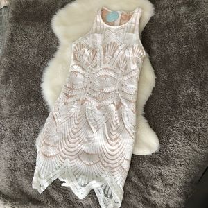 NWT Tea and Cup Off-White Dress